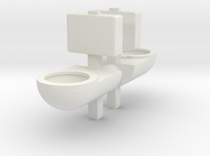 Prison Toilet (x2) 1/56 3d printed