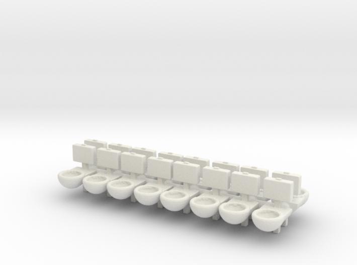 Prison Toilet (x16) 1/144 3d printed