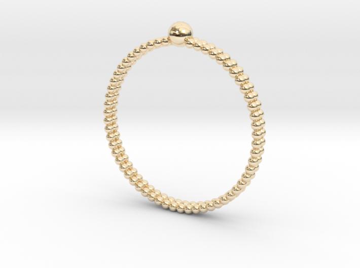 Lady Pearl Ring - Sz. 9 3d printed