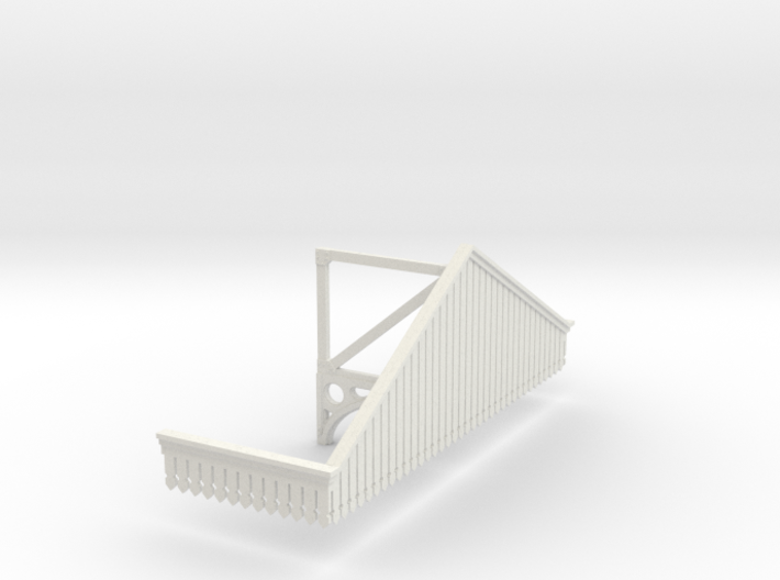 Platform Canopy Section 3 No Roof - 4mm Scale 3d printed