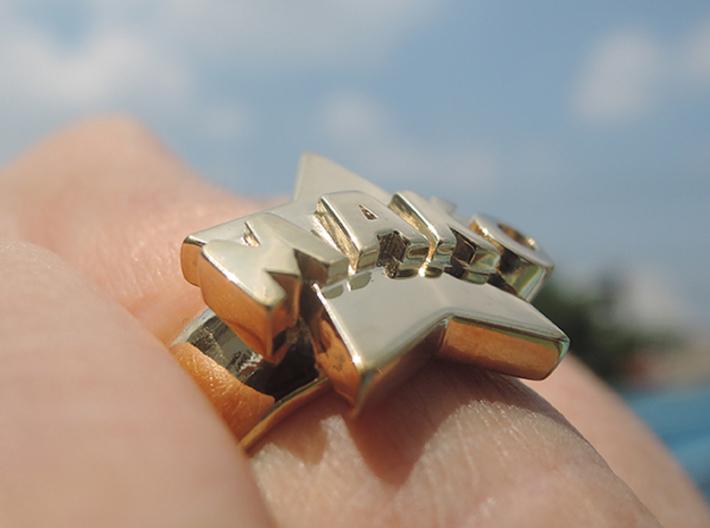Mako-nuckle Ring 3d printed