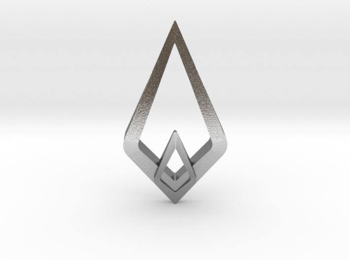 HIDDEN HEART Luna, Pendant. Sharp Chic 3d printed