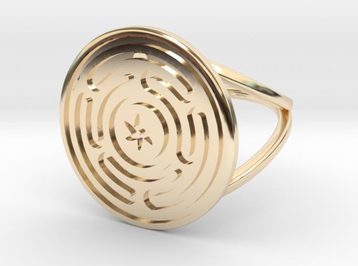 Precious Metal Strophalos Ring 3d printed