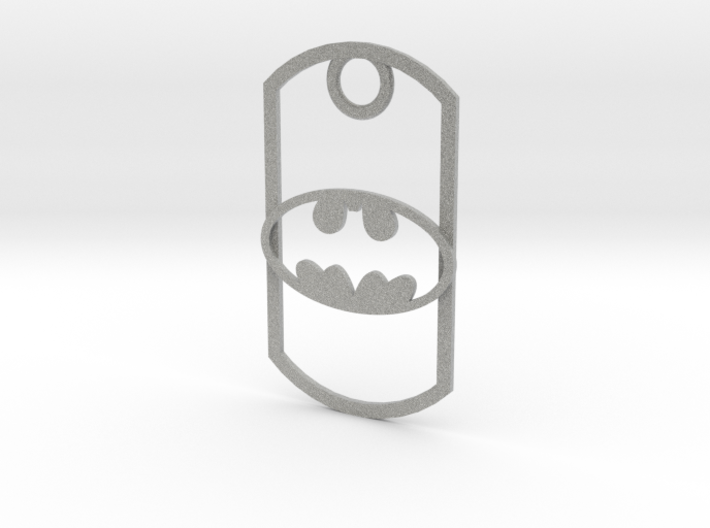 Batman dog tag 3d printed