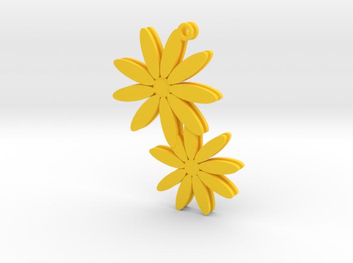 Daisy earrings - 1 pair 3d printed