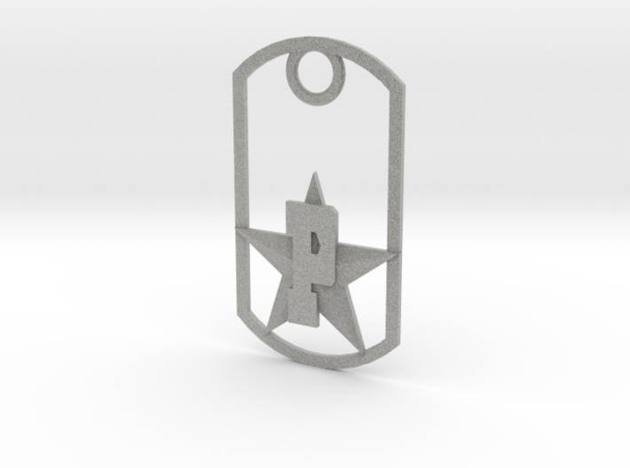 PHS dog tag - Plains Star 3d printed