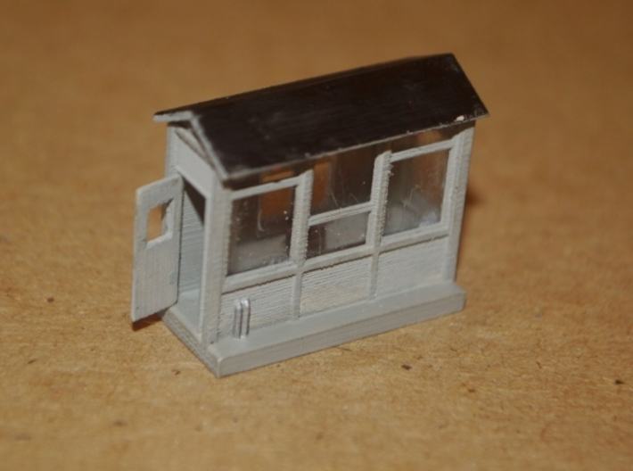 N-Scale Scale Shack 3d printed Painted Production Sample - Front