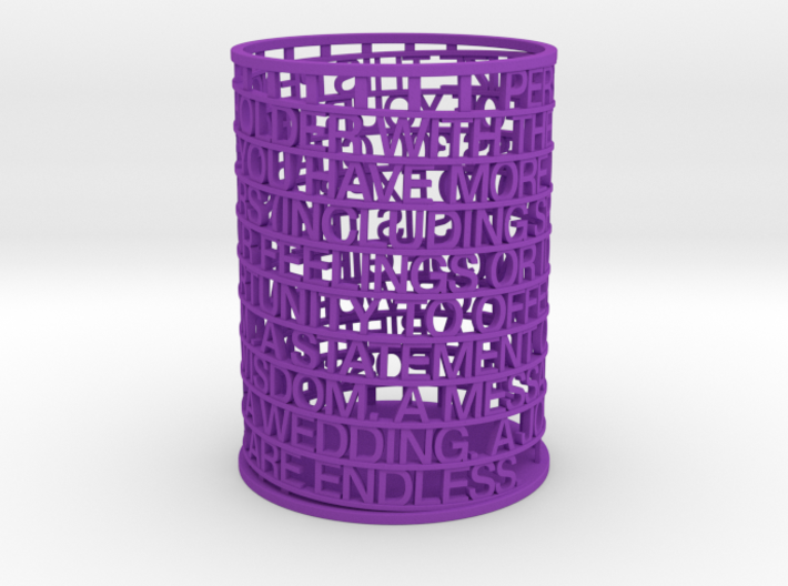 Personalized Pen Holder 3d printed