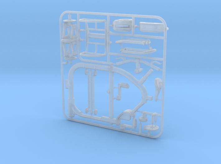 1/12 STROKE Cargo Trike: Frame & Suspension kit 3d printed