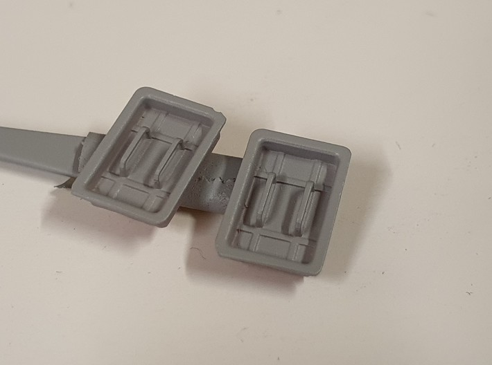 Air intake covers for SEPECAT JAGUAR 1/48 - Obtura 3d printed