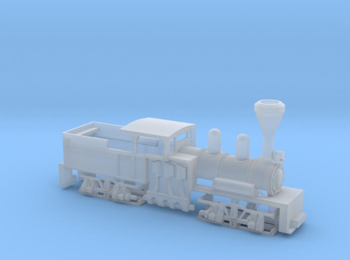 Shay Steam Locomotive Shell 3d printed