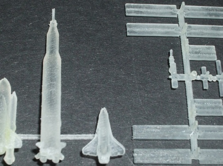 1/537 NASA Saturn 5 Rocket 3d printed