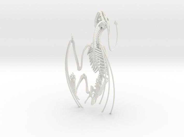 Horned Wyvern Skeleton 3d printed