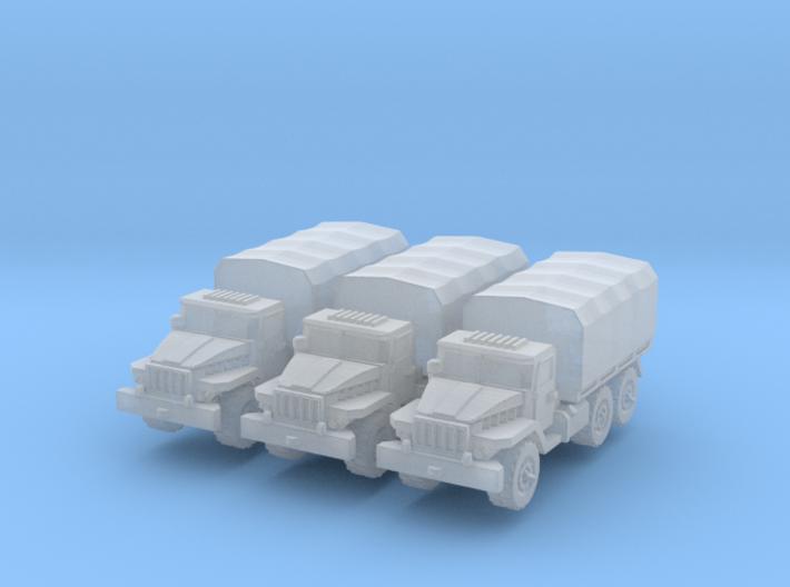 Ural-375 (x3) 1/220 3d printed