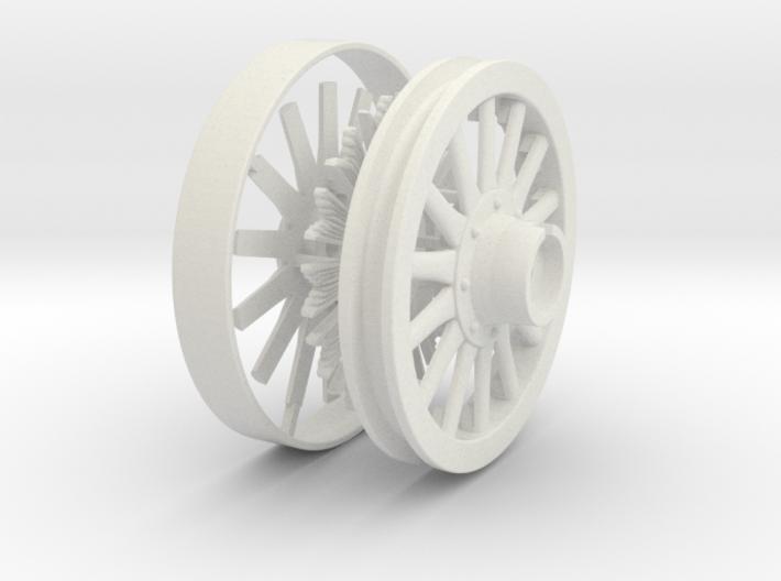 "1/2"" scale 36"" Sunburst wheel. 3d printed"