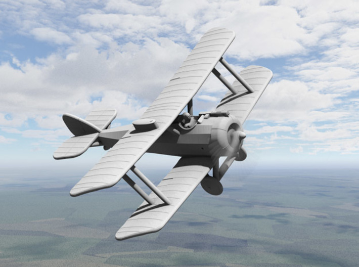 Airco D.H.5 3d printed Computer render of 1:144 D.H.5