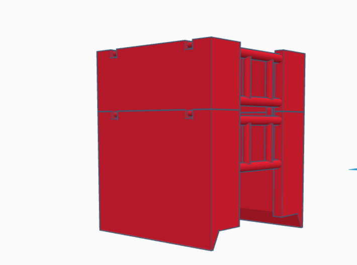 1:64 4Ft Manhole box extension  3d printed Rendering of our manhole box and extension paired together. Manhole box is not included with this product, but is sold separately.