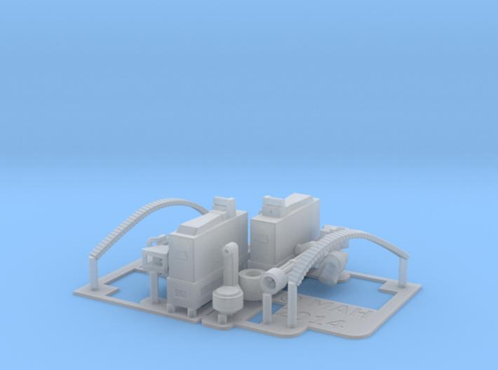 2 x Mini Gun 1/24  Pole Mount 3d printed