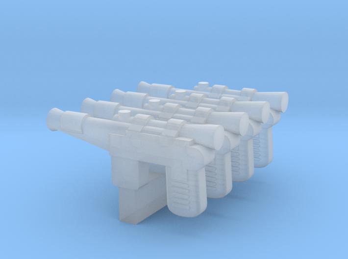 """PRHI Smuggler Blaster for 1"""" figures 3d printed"""