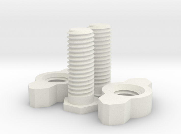 Nuts And Bolts For Tesla Flat Spiral Coil Stand 3d printed