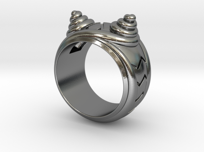 Smiley Cat Ring - Size 8 1/2 (18.54 mm) 3d printed