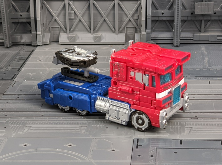 TF Seige Prime Adapter for Energon Trailer 3d printed