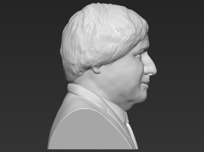 Boris Johnson bust 3d printed