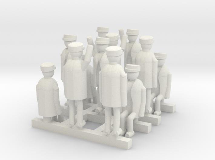 N Gauge Tram Crew (x12) 3d printed
