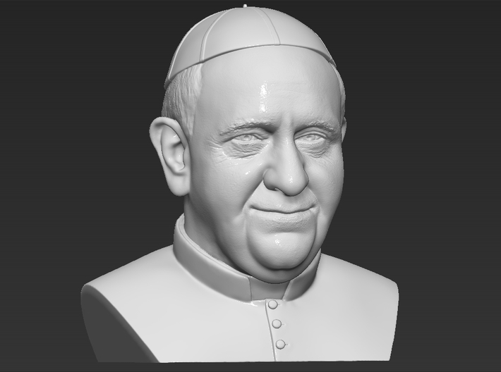 Pope Francis bust 3d printed