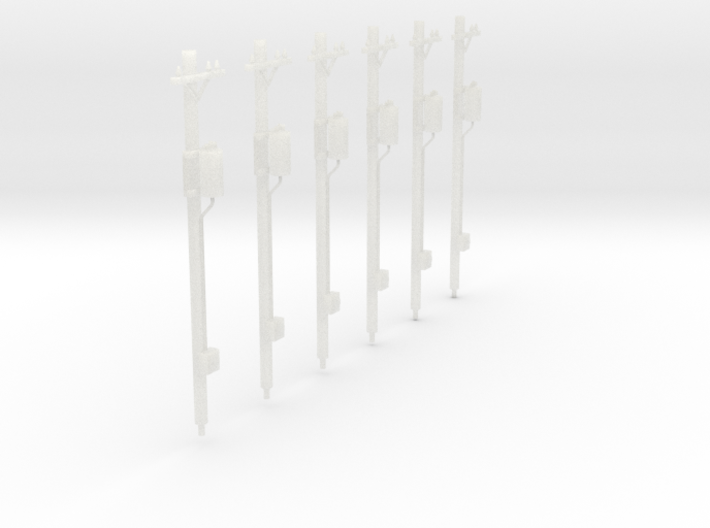 HO-Scale Power Poles With Transfomers 3d printed