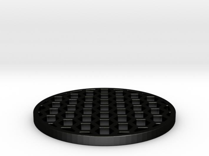 Honeycomb KillFlash 48mm diam 3mm height 4mm diag 3d printed