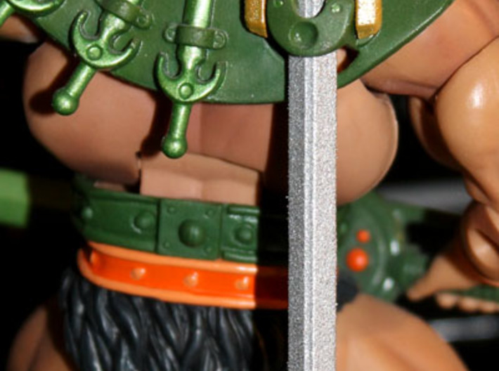 Alcala First Sword 3d printed Also fits the scabbard of the MOTUC Tri-Klops figure