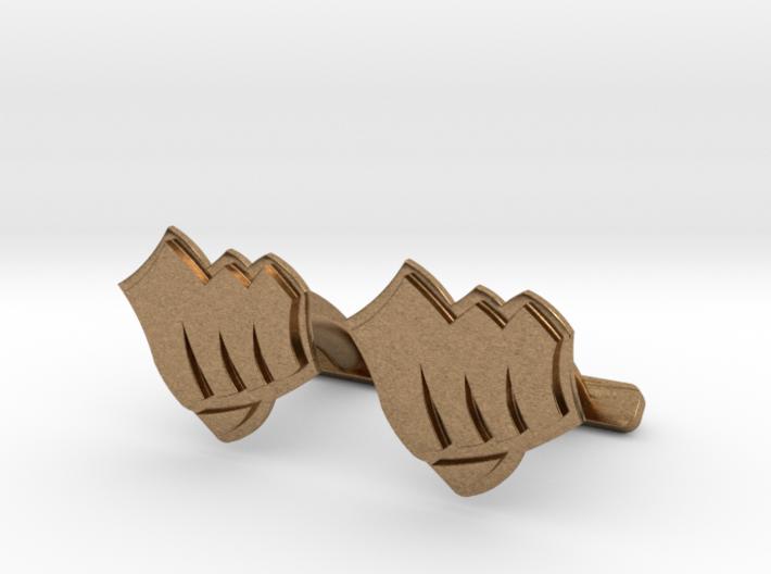 Riot Fist Cufflinks 3d printed