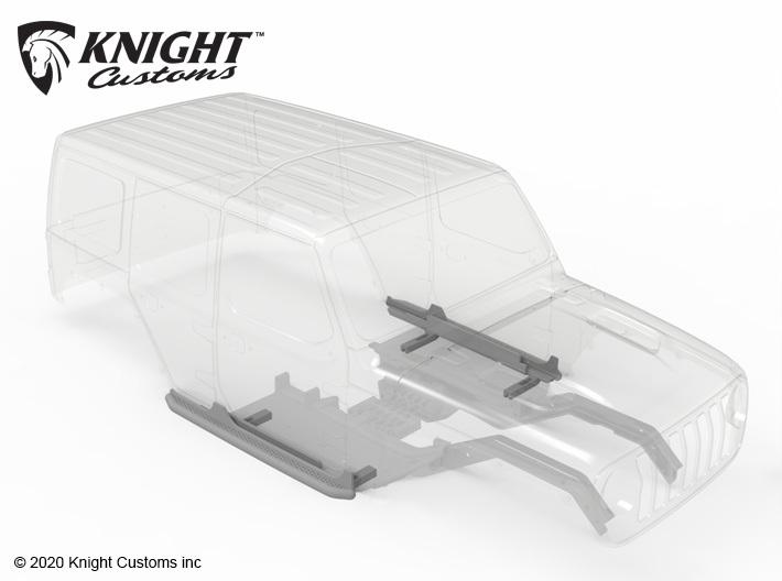 KCJL1013 JL Bar Rock Sliders 3d printed PLEASE NOTE: Other parts sold separately