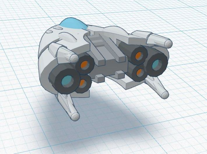 1-A Runabout Squadron  (3) 3d printed detail render