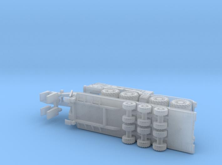 Kamaz 78504 Tank Transporter 1/285 3d printed