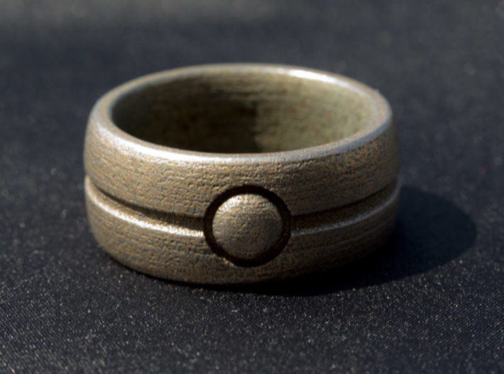 One Bead Ring - Size 23 3d printed One Bead ring - Size 23
