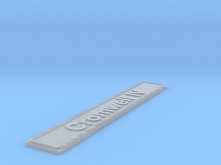 Nameplate Cromwell IV 3d printed