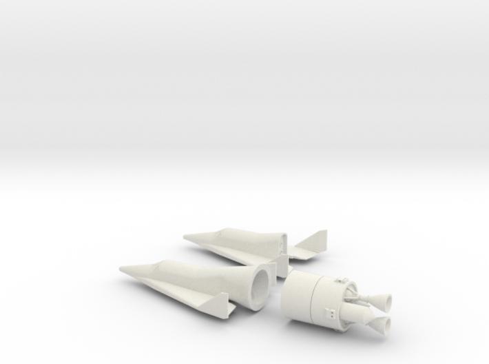 1/72 BOEING X-20 DYNA SOAR SPACE PLANE 3d printed