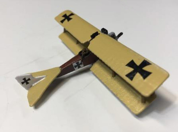 """Brandenburg C.I (U) Series 169 (various scales) 3d printed Photo and paint job courtesy Ray """"The G Dog"""" at wingsofwar.org"""