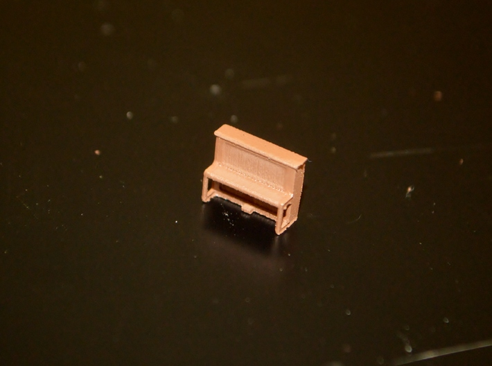 N-Scale Pamies Piano 3d printed Painted Production Sample