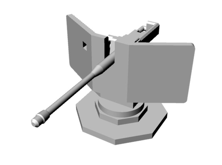 1:144 WWII German 5cm KwK 39 for Gun Emplacement 3d printed