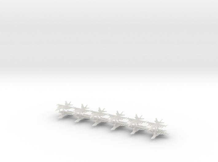 1/600 F-18E Super Hornet (Anti-Ship Loadout) (x12) 3d printed