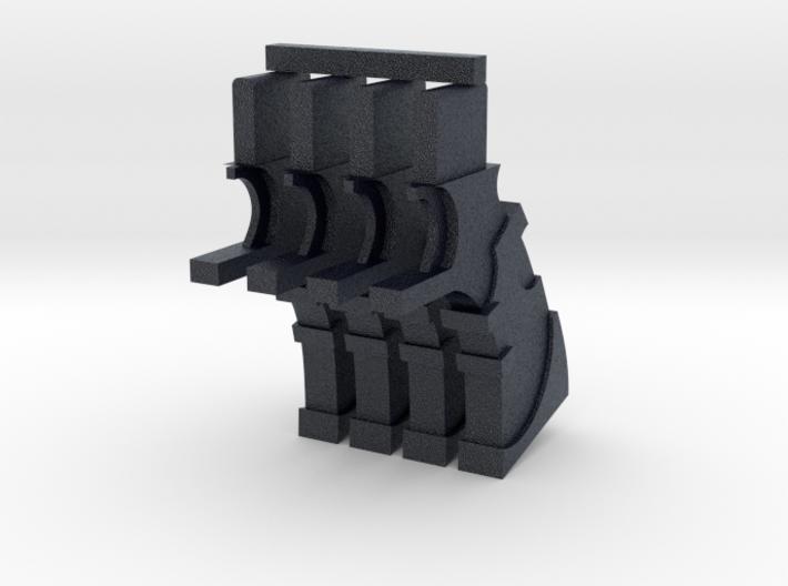 PRHI Large Weapon Gun Grip Sprue 3d printed