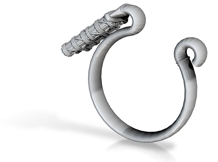 Pharaoh Staff & Tassel Ring - Sz. 5 3d printed