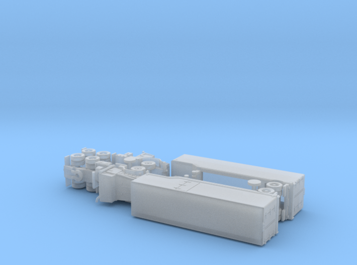 US M932 Semi-Truck w. M1032 / M 373 Trailer 1/285 3d printed