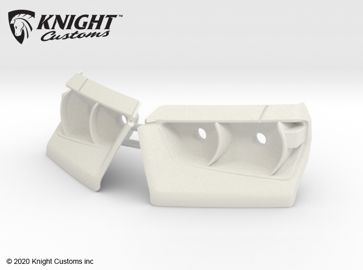 KCTR1001 4Runner Front Light Buckets 3d printed