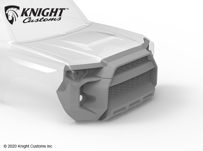 KCTR1004 4Runner Gen5 Grill 3d printed Part shown painted gray but comes in white.