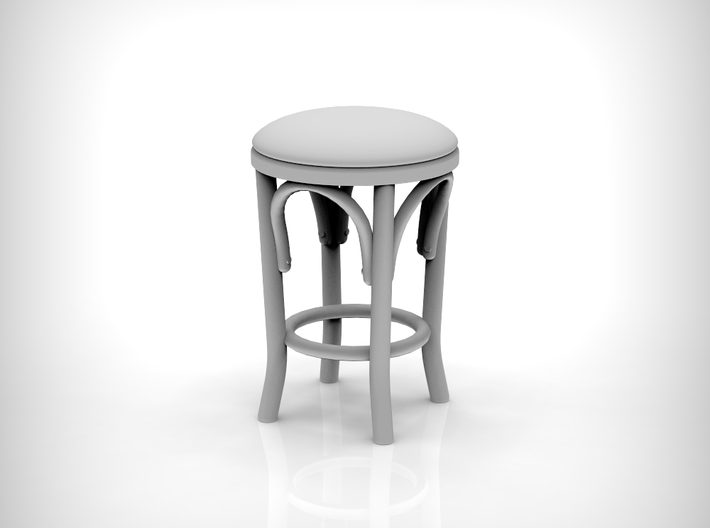 Stool 02. 1:12 Scale x2 Units 3d printed