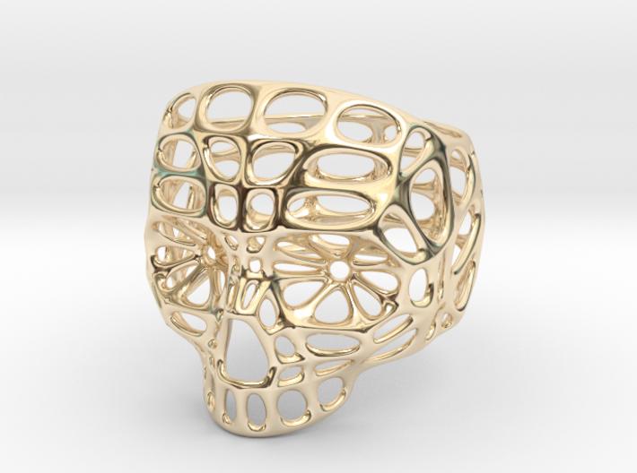 Hollow Skull - Size 10 (inner diameter = 19.76 mm) 3d printed